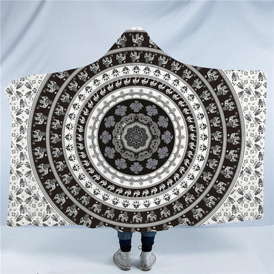 Assorted Mandala Hooded Blanket