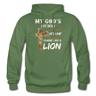 MY GOD'S IS NOT DEAD - Gildan Heavy Blend Adult Hoodie - military green