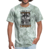 A CHILD OF GOD - UNISEX PREMIUM TEE - military green tie dye