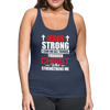 I CAN DO ALL THINGS-WOMEN'S PREMIUM TANK - navy
