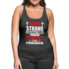 I CAN DO ALL THINGS-WOMEN'S PREMIUM TANK - charcoal gray
