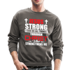 I CAN DO ALL THINGS - CREW-NECK SWEATSHIRT - asphalt gray