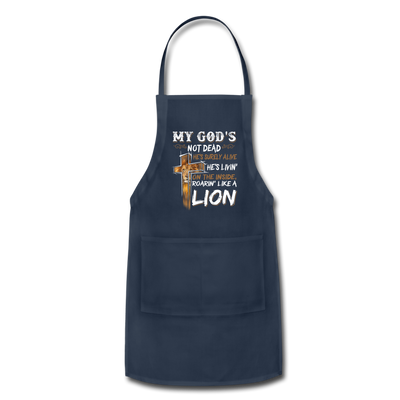 MY GOD'S IS NOT DEAD - Adjustable Apron - navy