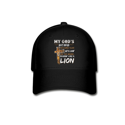 MY GOD'S IS NOT DEAD-BASEBALL CAP. - black