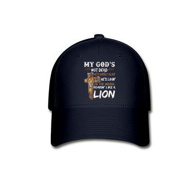 MY GOD'S IS NOT DEAD-BASEBALL CAP. - navy