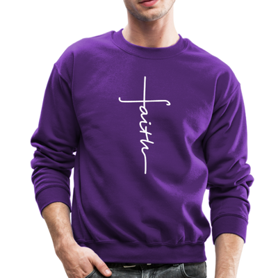 FAITH APPAREL - CREW-NECK SWEATSHIRT - purple