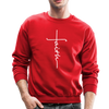FAITH APPAREL - CREW-NECK SWEATSHIRT - red