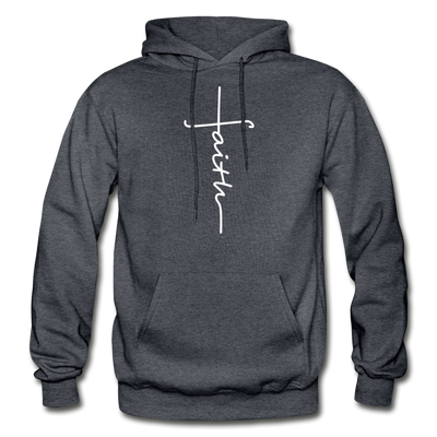 FAITH APPAREL - Heavy Blend Adult Hoodie - charcoal gray