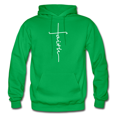 FAITH APPAREL - Heavy Blend Adult Hoodie - kelly green