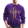 GOD IS GOOD - CREW-NECK SWEATSHIRT - purple