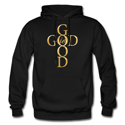 GOD IS GOOD - HEAVY BLEND ADULT HOODIE - black