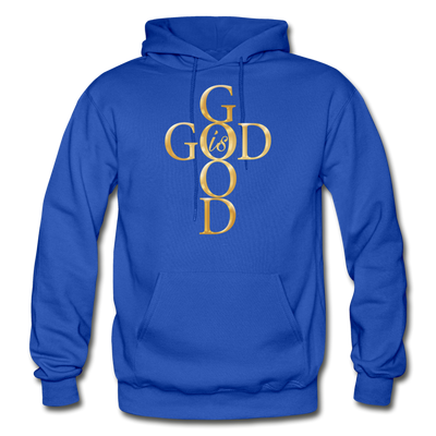 GOD IS GOOD - HEAVY BLEND ADULT HOODIE - royal blue
