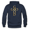 GOD IS GOOD - HEAVY BLEND ADULT HOODIE - navy
