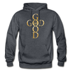 GOD IS GOOD - HEAVY BLEND ADULT HOODIE - charcoal gray