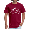HIGHS AND LOWS UNISEX TEE - burgundy