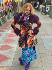 Philine Ladies Tiedye Coat #7 Medium