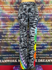 2XL Home Town Tiedye Yoga Pant #28