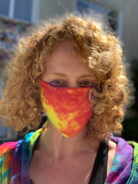 Bright Rainbow Cloth Mask