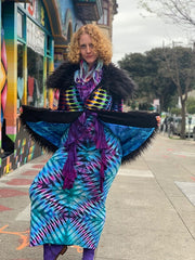 Philine Ladies Tiedye Coat #6 Small