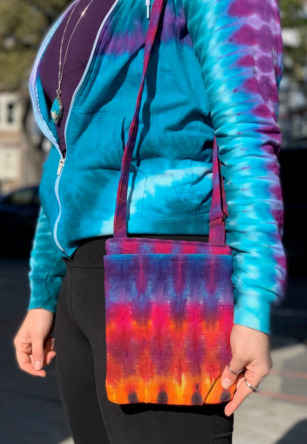Tie dye Shoulder Strap Purse #1