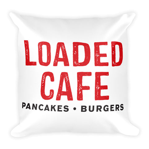 Loaded Cafe Logo - Square Pillow