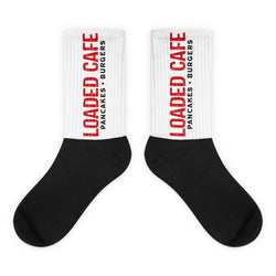 Loaded Cafe Logo - Black foot socks