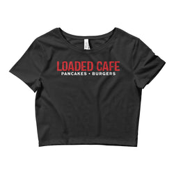 Loaded Cafe Logo Women's Crop Tee