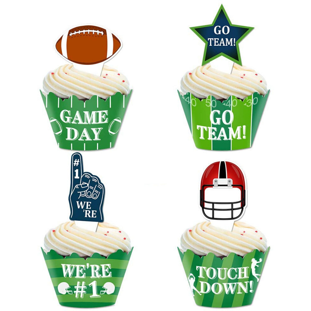 Football Theme Cupcakes (Dozen)