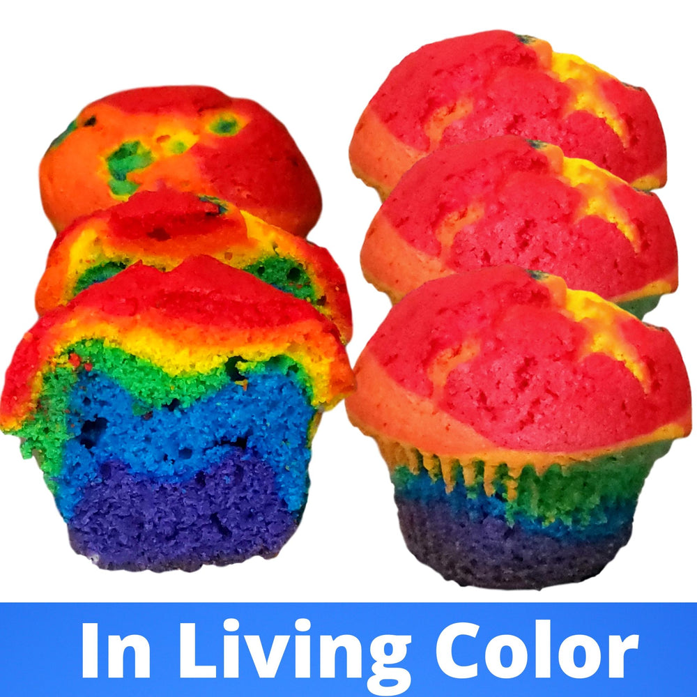In Living Color  Cupcakes 1/2 Dozen  (ships nationally)