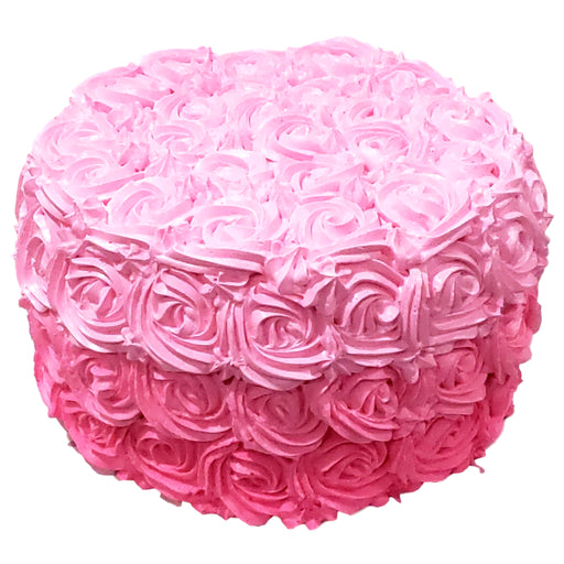Ombre Rose Cake - Baked Cravings