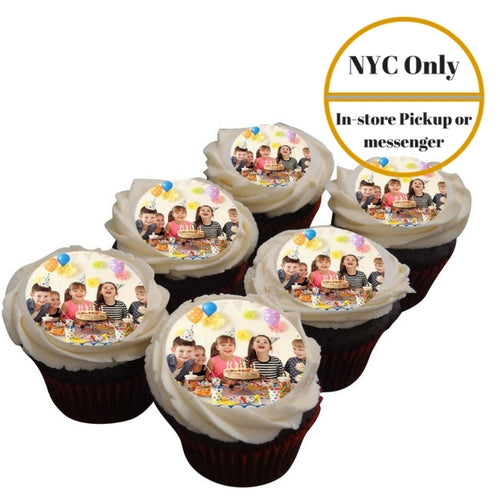 Photo Cupcakes - (1/2 Dozen) - Baked Cravings