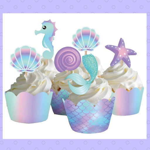 Mermaid theme cupcakes (Dozen)