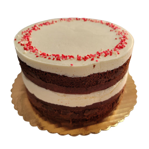 Valentine Red Velvet Naked Cake  (Ships Nationally!)