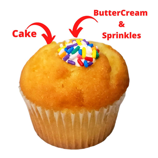 Cream Filled  Cupcakes 1/2 Dozen  (ships nationally)