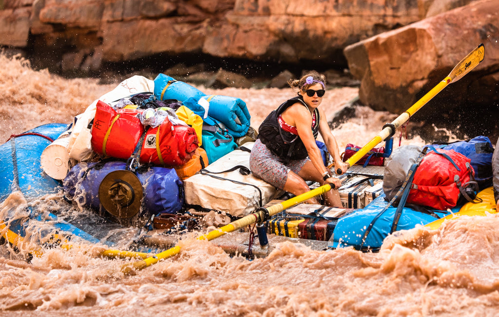 Filmmaker and River Guide Meredith Meeks guides a trip on the Grand Canyon