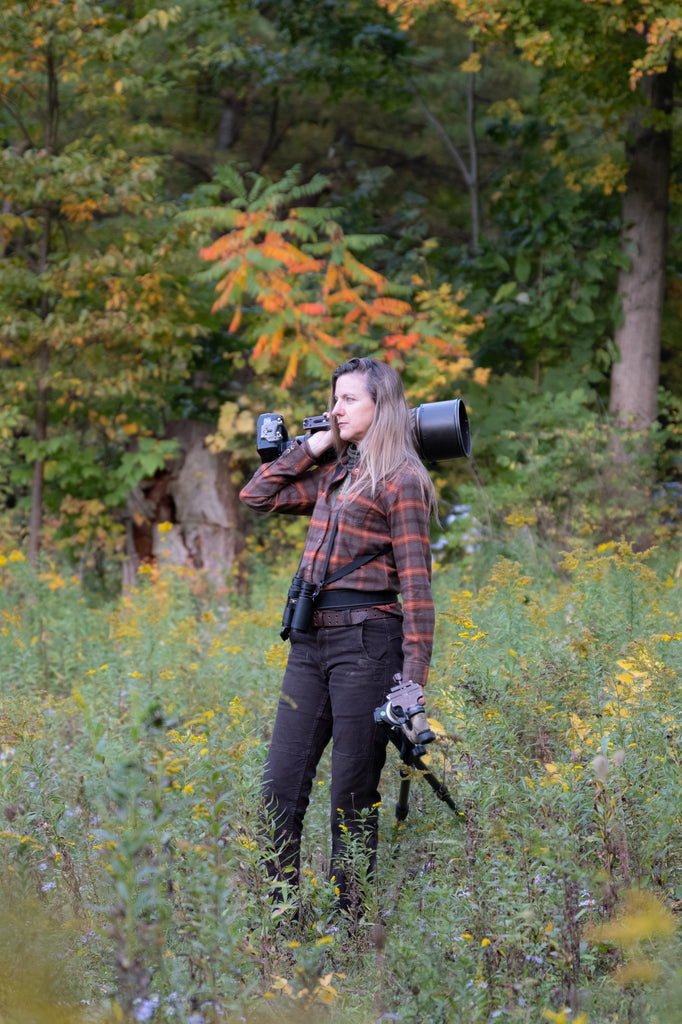 Melissa Groo serves model face from behind the camera. Photo: Ruby Gelder