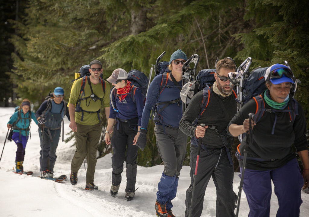 Who's on Top summiting Mt Hood Dovetail Workwear women at work