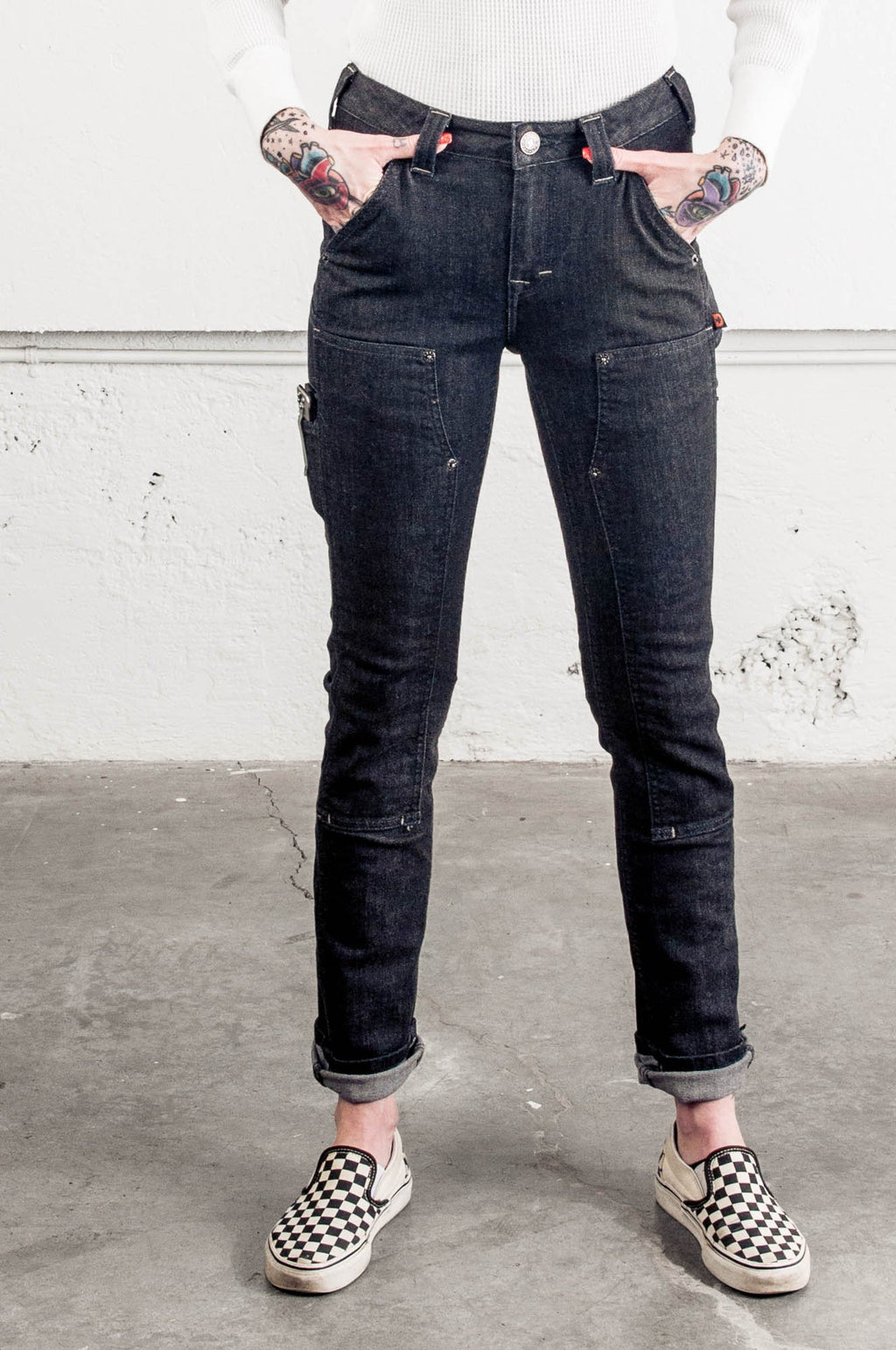Maven Slim in Black Stretch Denim