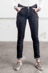 Maven Slim in Heathered Black Denim
