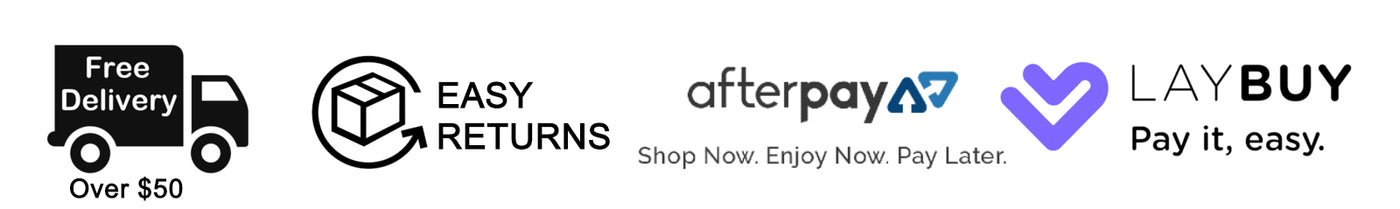 Freee Shipping | Returns | Afterpay & Laybuy available