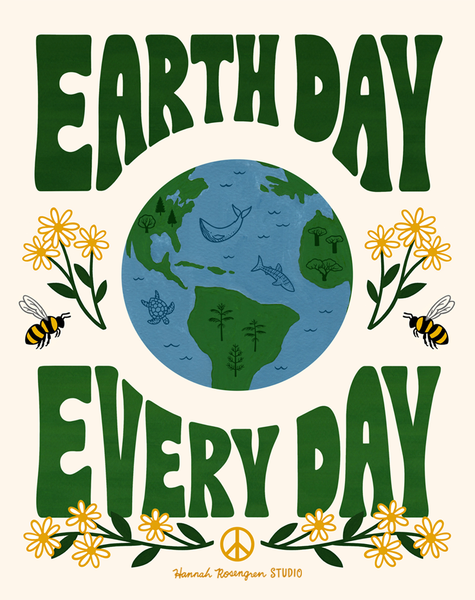 "Earth Day Every Day 11x14"" Print"