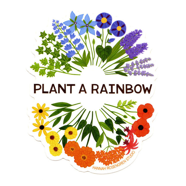Plant a Rainbow Sticker