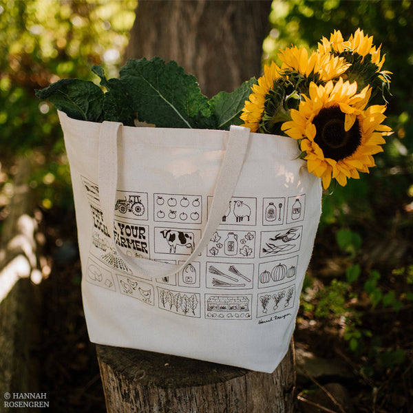 Support Your Local Farmer Eco-Friendly Market Tote