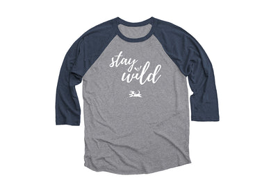 Stay Wild ¾ Sleeve Baseball Tee