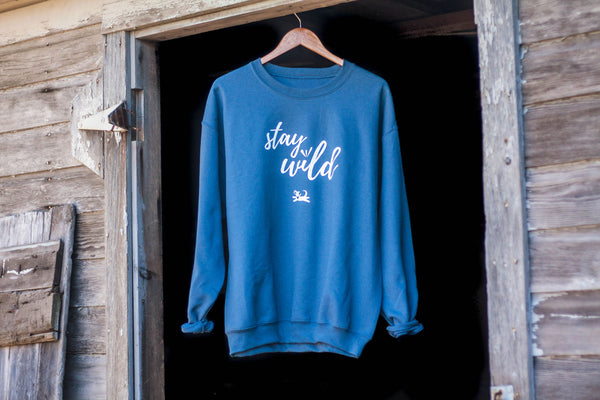 Stay Wild Crew Neck Sweatshirt