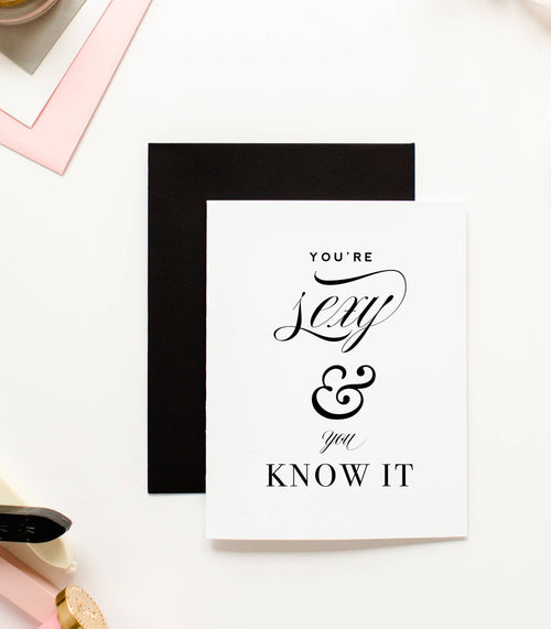 Sexy and You Know It Love Card