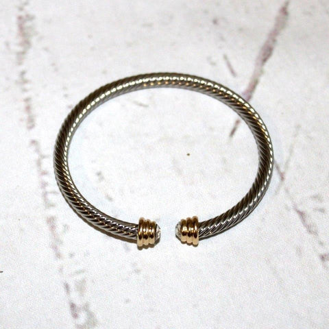 Cable Cuff Petite Crystal Gem Bracelet - Biology Boutique