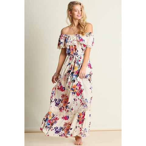 Enchanted Affair Floral Maxi Dress - Biology Boutique