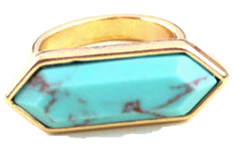 Alli Turquoise Ring - Biology Boutique