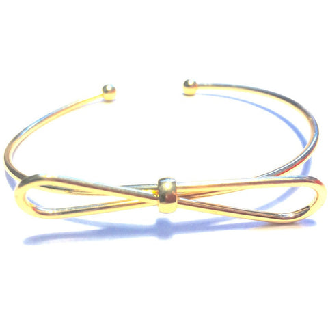 Ashley Bow Bracelet in Gold - Biology Boutique